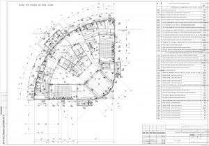 План расположения оборудования охранной сигнализации на первом этаже
