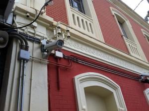 Телекамера наблюдения на вокзале