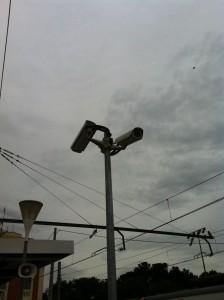 Телекамеры наблюдения на вокзале Бланеса