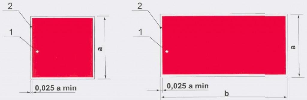 """Рисунок 2. Соотношение сторон знака """"Пожарный водоем"""":"""