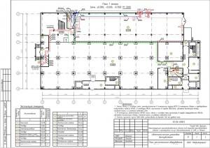 План расположения оборудования установки автоматизации дымоудаления