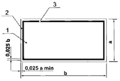 Рисунок 3. Соотношени сторон дополнительного знака