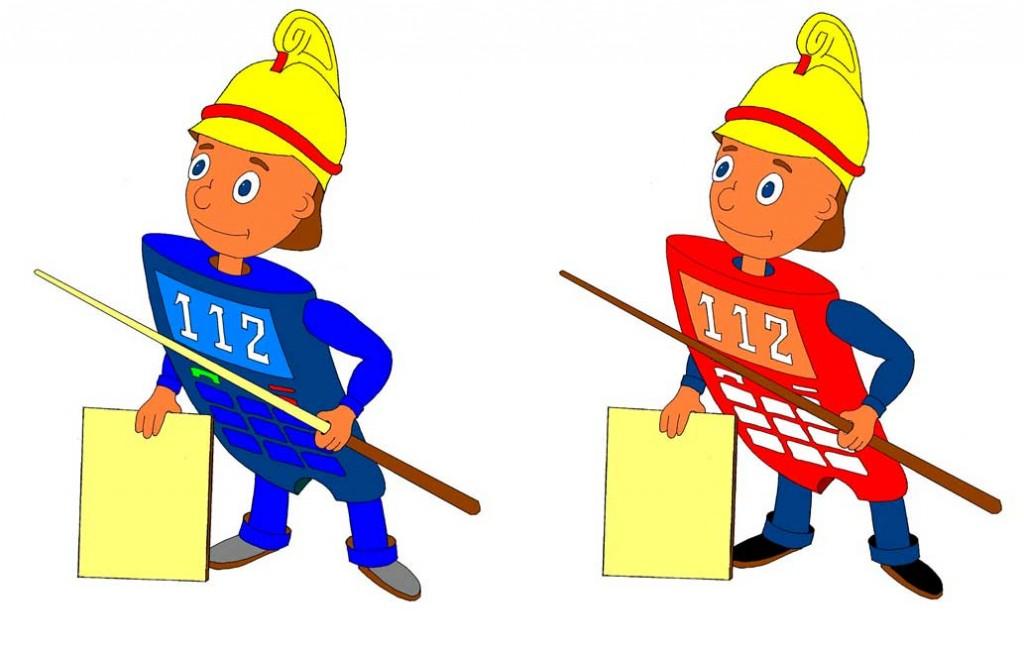 Сотик - символ пожарной профилактики. Идея И.Г.Веселовой. Рисунки Г.А.Прыткова
