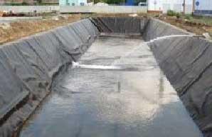 Рисунок 7. Заливка пожарного водоема водой