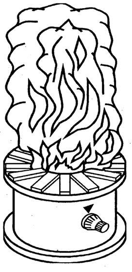 Огневые испытания. Расположение буковых брусков при проведении испытаний на чувствительность к тестовому очагу пожара ТП-2