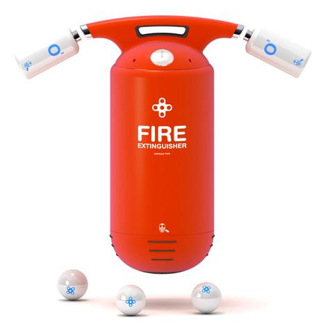 Концепт огнетушителя Capsule
