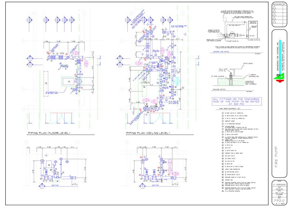 Схема обвязки пожарного насоса (2 листа)
