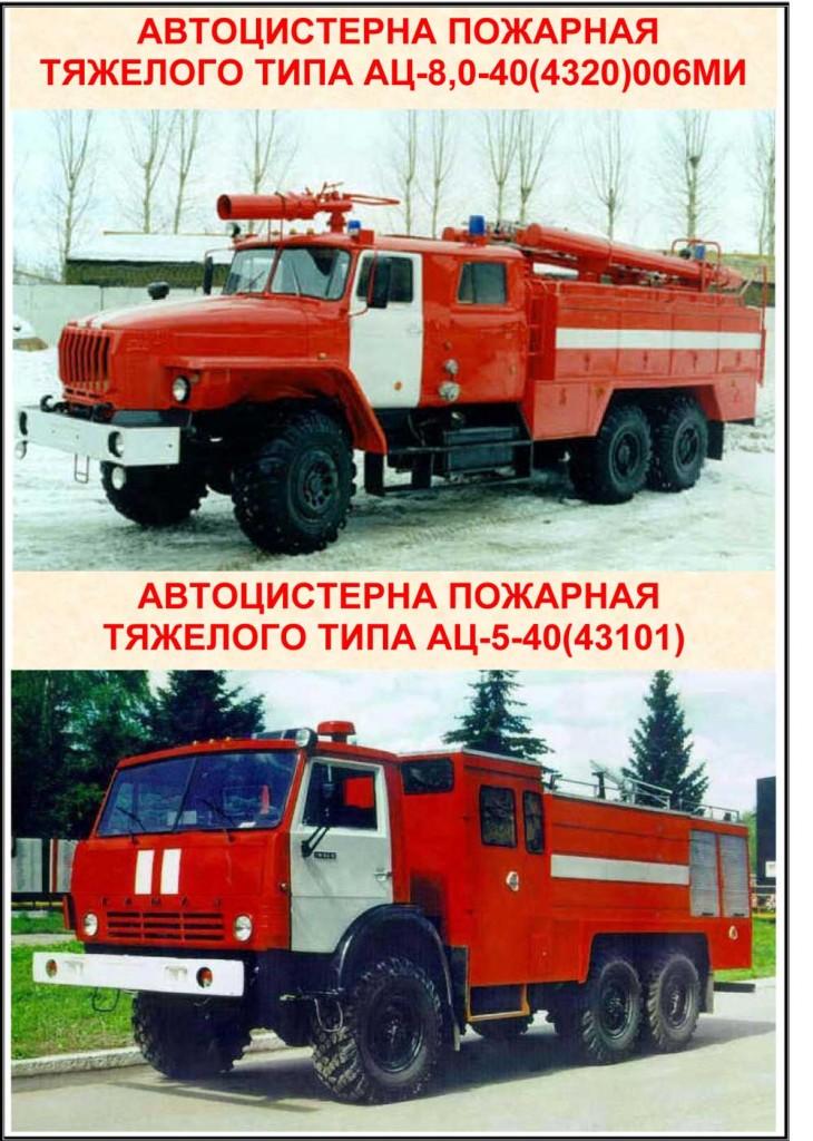 """Стенд """"Автоцистерны пожарные тяжелого типа"""""""