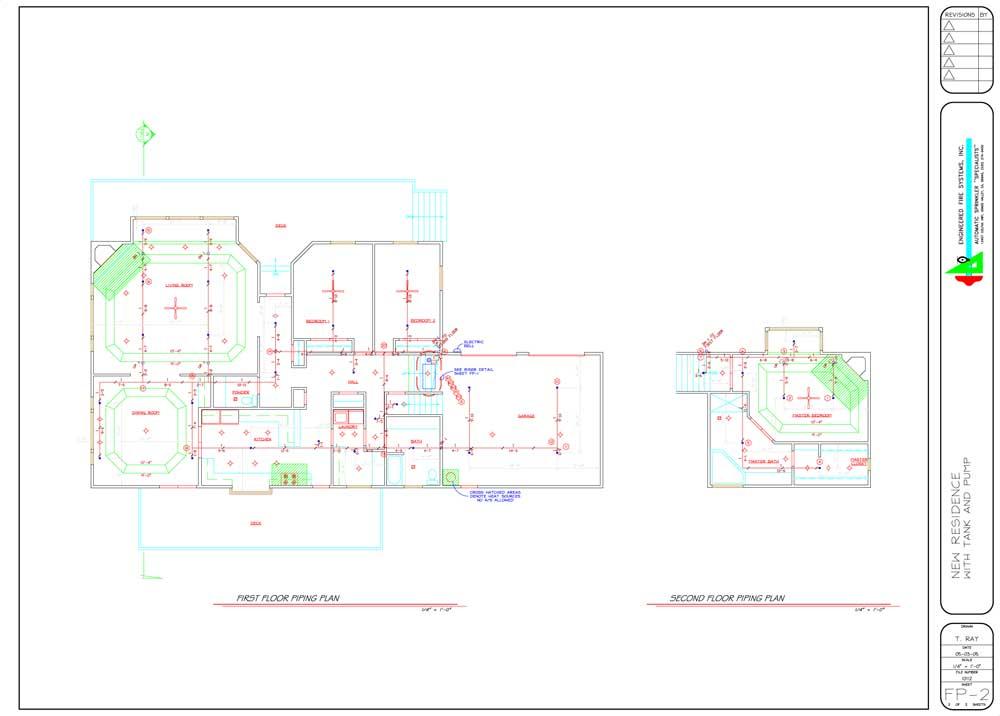 Спринклерная система в частном доме (2 листа)
