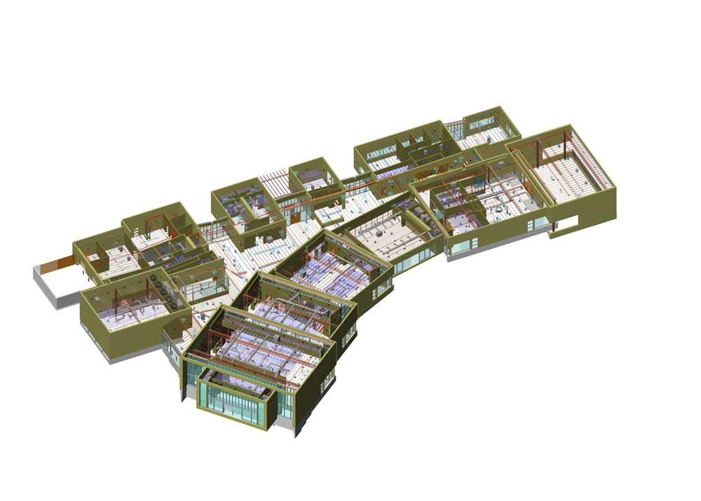 Сводный план инженерных сетей в 3D (BIM)