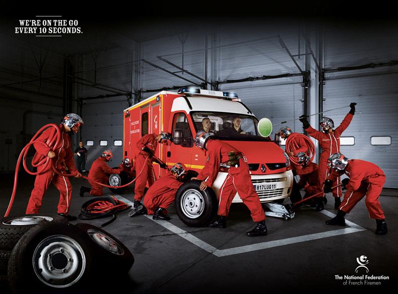 Федерация французских пожарных - Мы выезжаем каждые 10 секунд. Рекламное агентство: Euro RSCG C&O, Франция