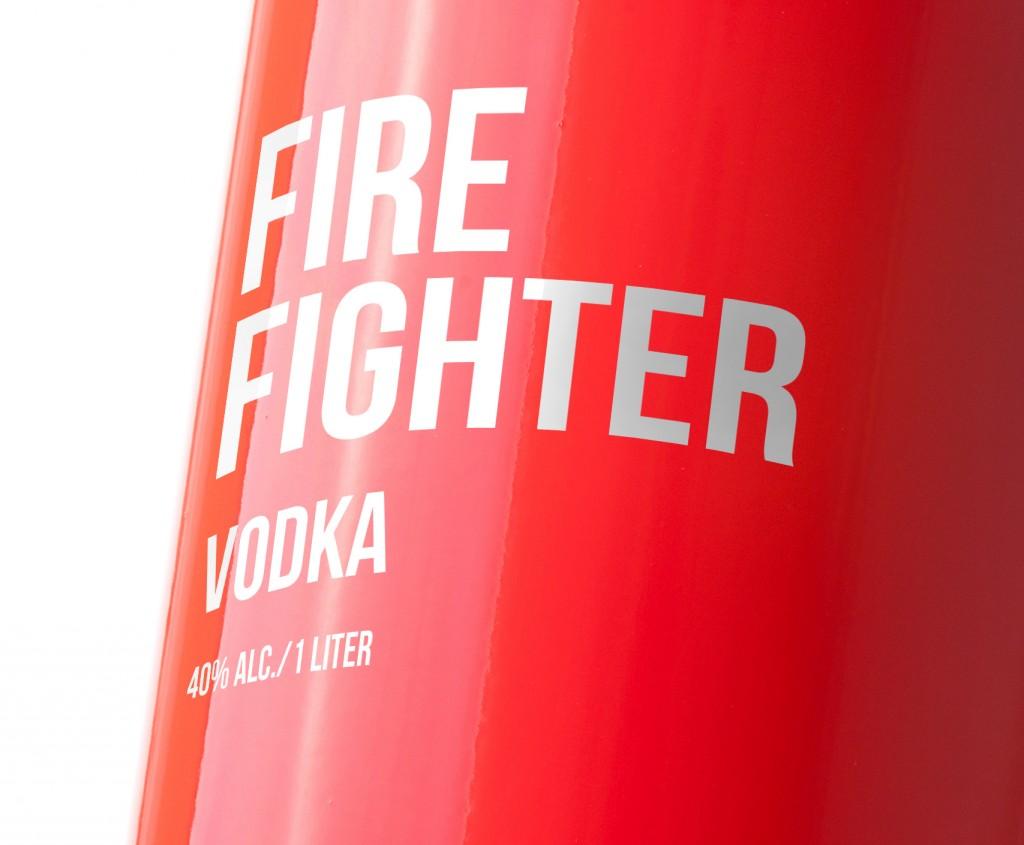 Дизайн водки FIREFIGHTER