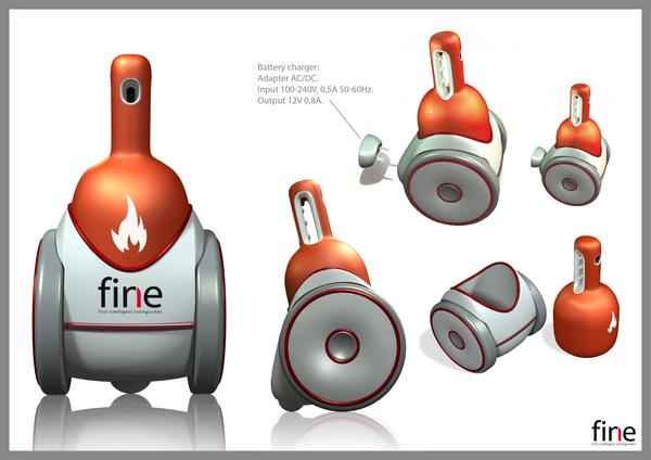 FINE - робот-огнетушитель
