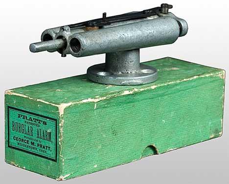 Патентованная сигнализация от грабителей Пратта, 1880 год