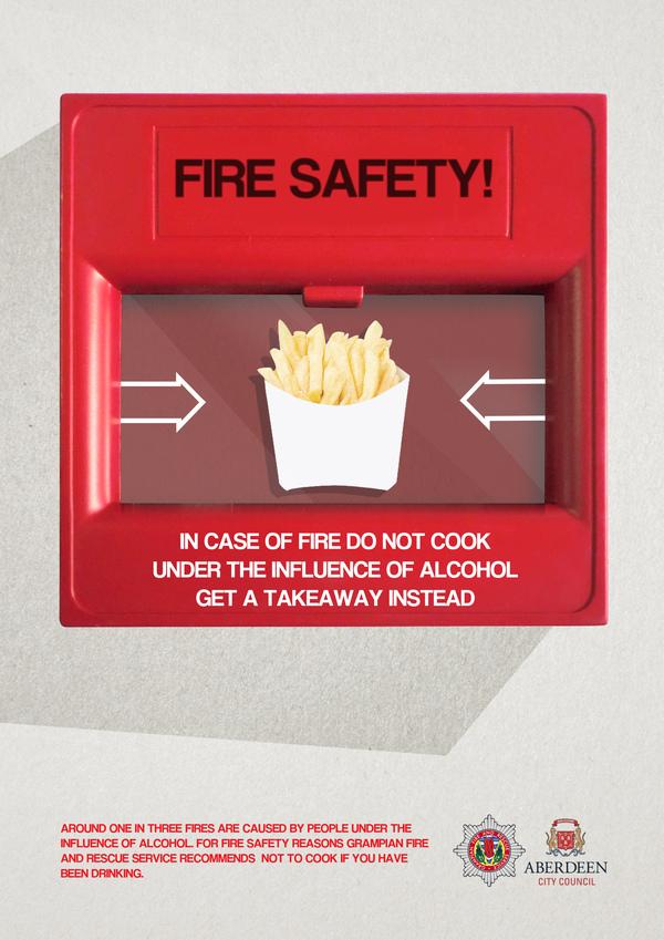 Противопожарные плакаты из Шотландии