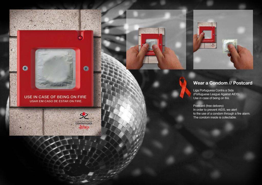 """Использовать,  будучи """"в огне"""". Реклама презервативов для португальской лиги против СПИДа"""