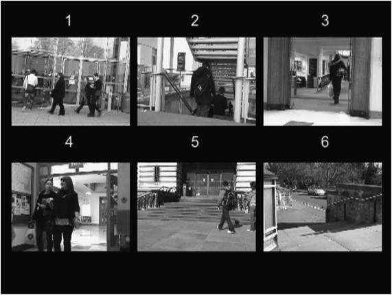 Мультиплексированное изображение с камер наблюдения