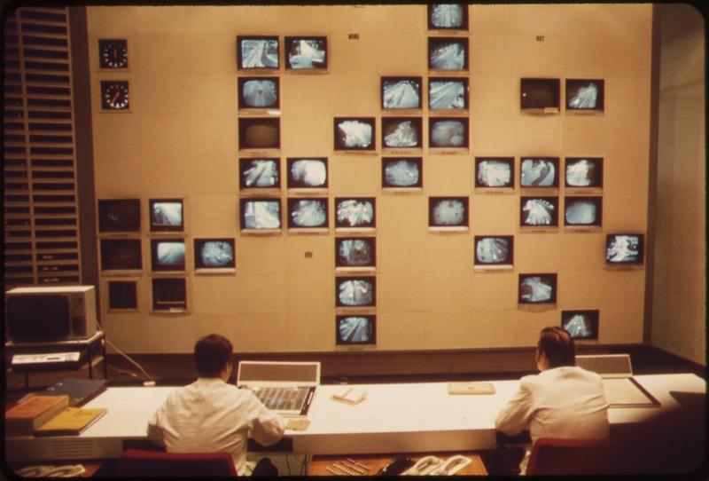 Центр наблюдения телевизионной системы контроля, Мюнхен, 1973 год
