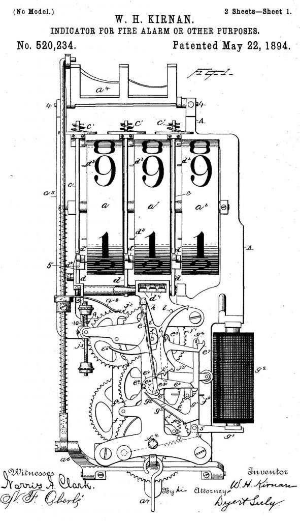 Устройство индикатора Геймвелла. Иллюстрация из патента