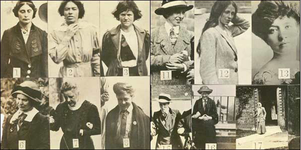 Суфражистки в тюрьме Холловэй, 1913 год