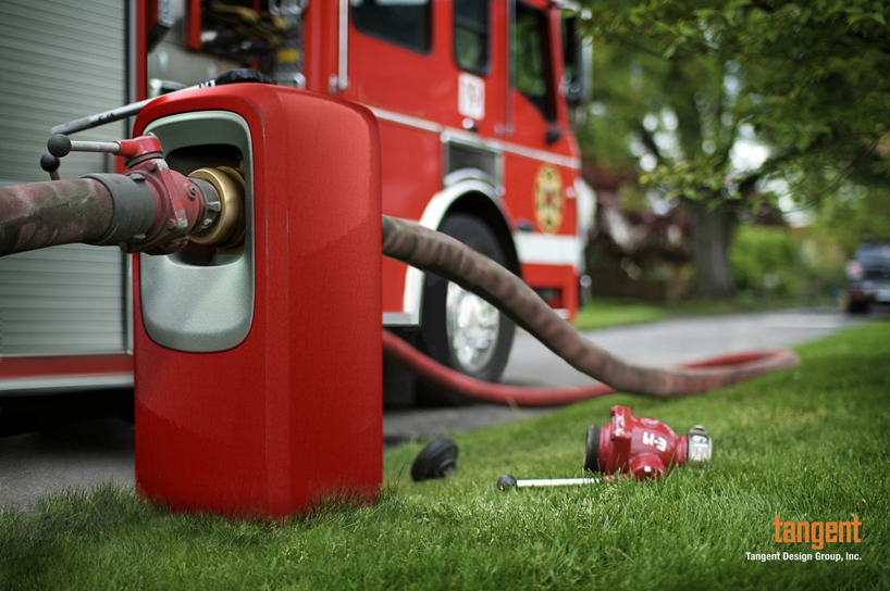 Концепт пожарного гидранта от студии Tangent