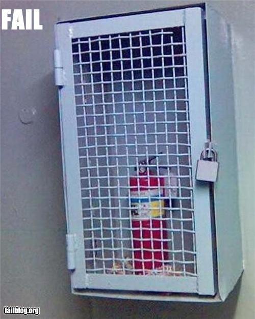 Шкаф для огнетушителя