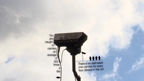 Вы попадаете в поле зрения камер примерно 300 раз в день. В Британии приходится примерно по одной камере наблюдения на каждых четырех жителей