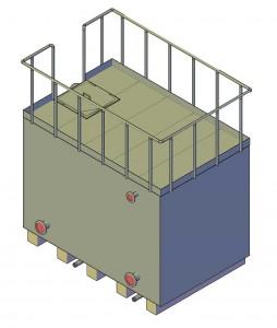 3D модель бака для воды объемом 10 м3