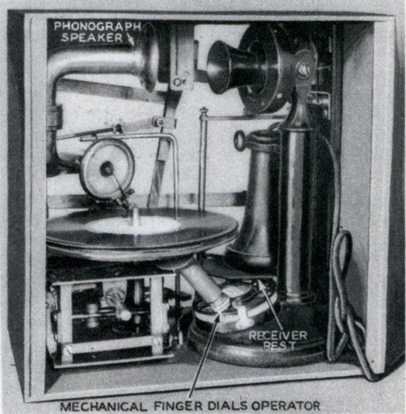 Автоматический телефонный информатор для пожарной сигнализации. США, 1935 год