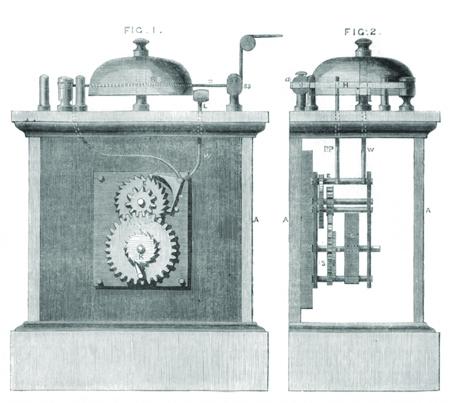 Вариант механической пожарной сигнализации из Англии, середина 19 века