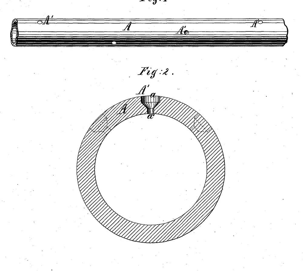 Схема расположения оросительных отверстий в перфорированном трубопроводе