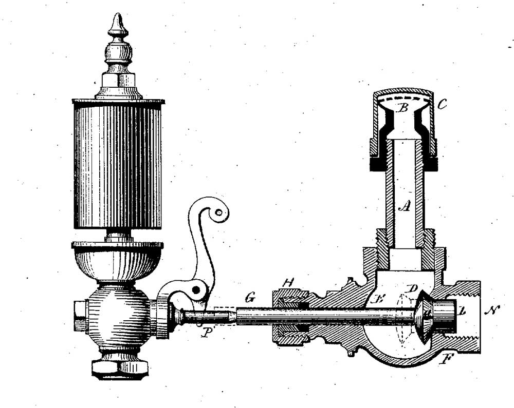 Усовершенствованная модель спринклера Пармели 1875 года