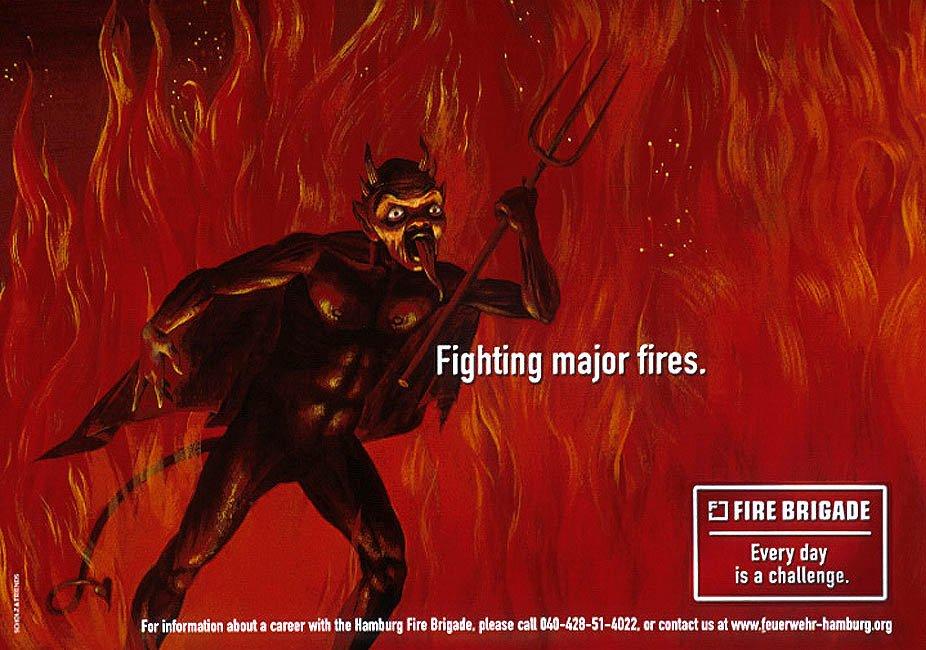 Реклама пожарной бригады Гамбурга