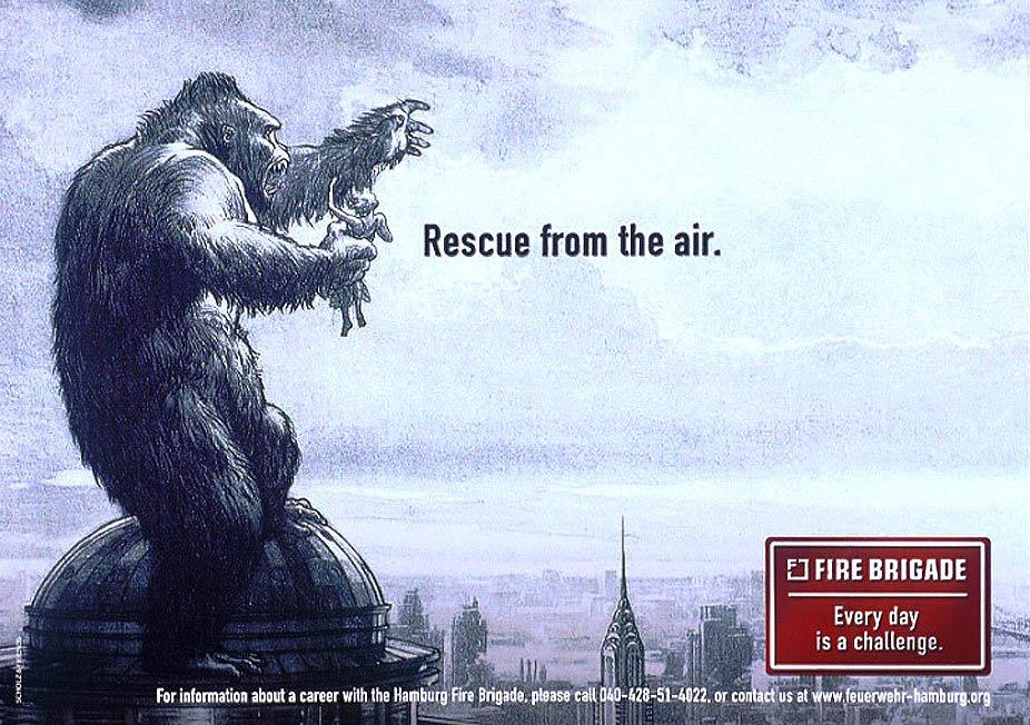 Пожарная бригада Гамбурга - спасение с воздуха