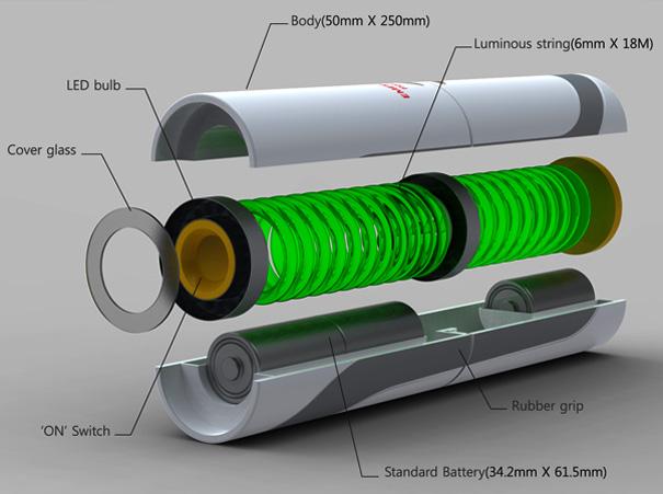 Концепт аварийного фонаря для безопасной эвакуации