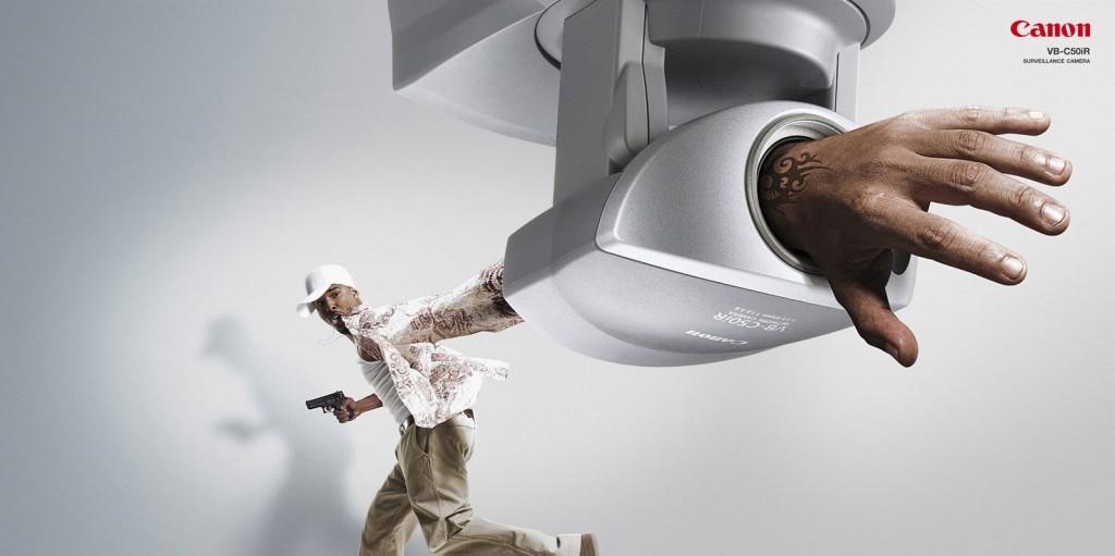 Рекламные принты для камер видеонаблюдения