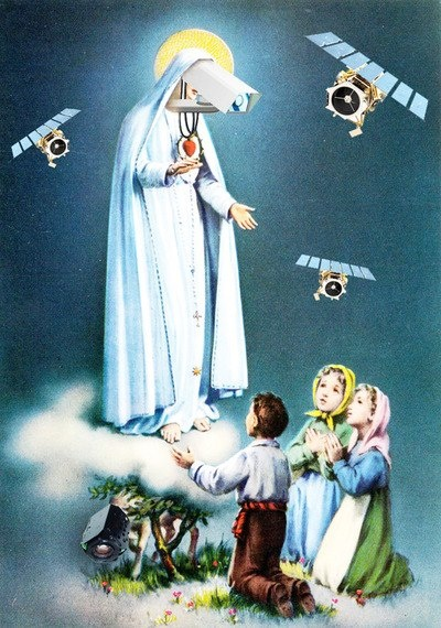 Дева Мария и ангелы - телекамеры