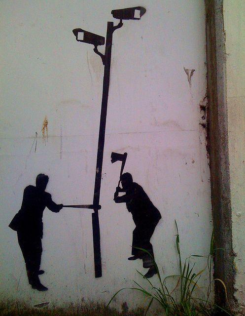 Граффити с лесорубами