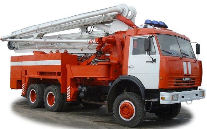 Пожарный пеноподъемник на базе шасси КАМАЗ