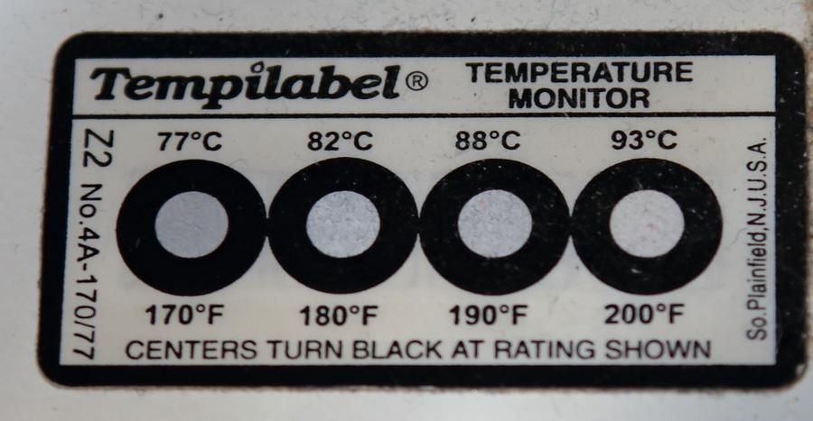Температурная индикаторная наклейка