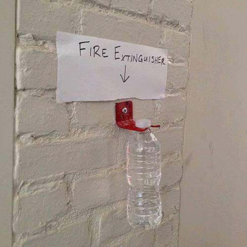 Когда огнетушителей не хватает...