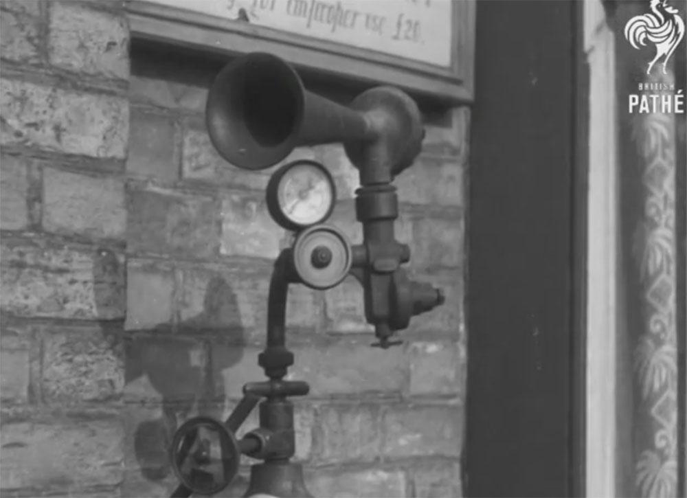 Пневматическая пожарная сигнализация, Великобритания, 1937 год