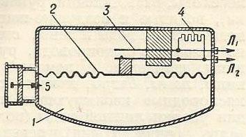 Рис. 6. Схема воздушного извещателя дифференциального действия