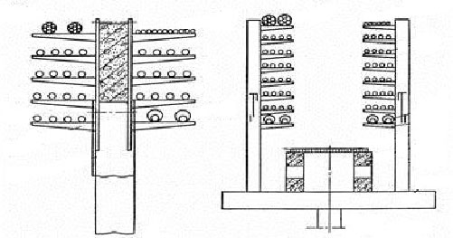 Варианты монтажа кабелей на лотках/эстакадах (наружное исполнение)